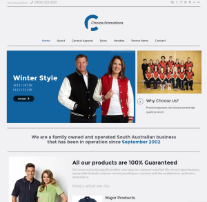 Choice promotions website